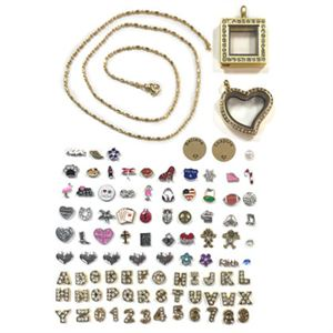 Picture of Gold Lockets and Charms Set - While Supplies Last!